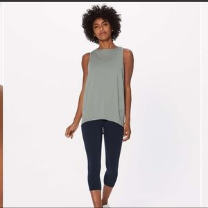 Lululemon back in action tank top misty moss